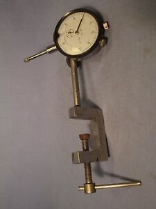 Dial Indicator W Clamp On Base At 24
