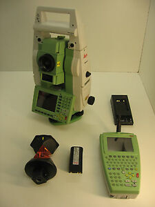 Leica Tcrp1203 3 Total Station W Radio Handle For Surveying 1mnth Warranty