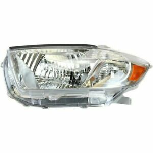New To2502176 Driver Side Headlight For Toyota Highlander 2008 2010