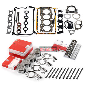 Engine Pistons Seals Bearing Overhaul Kit For Vw Jetta Golf Audi A4 Tt 1 8t Awp
