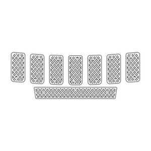 Grille Insert Guard Mesh Punch White Fits 11 13 Jeep Cherokee