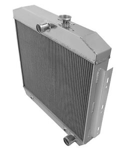 1955 1957 Chevy Belair 3 Row Aluminum Radiator