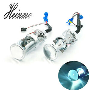 H4 Mini Projector Lens Hid Headlight Kit Lamp Bi Xenon Hi Lo Car Motorcycle Bulb