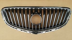 Fits 2012 2017 Buick Verano Chrome Grille Upper Front Bumper Cover New