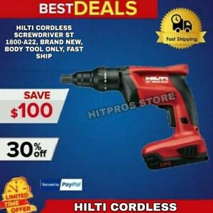 Hilti Cordless Screwdriver St 1800 a22 Brand New Body Tool Only Fast Ship