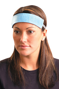 Occunomix Disposable Sweatband Original Soft Large Blue Bag Of 100