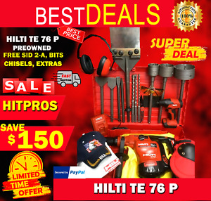 Hilti Te 76p Hammer Preowned Free Sid 2 a Bits Chisels Extras Fast Ship