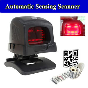 Automatic Usb Barcode Omnidirectional Scanner Bar Code Reader With Holder Stand