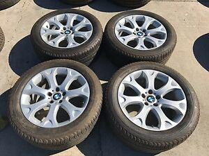 Oem 19 Bmw X5 Rims With Michelin Latitude Tires set Of 4