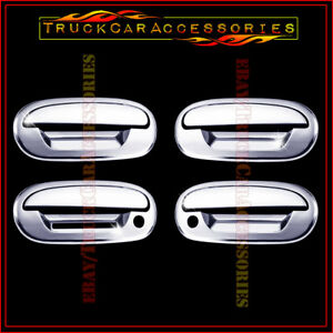 For Ford Expedition 1997 1999 2000 2001 2002 Chrome 4 Door Handle Covers Keypad