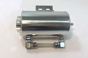 3 X 5 Universal Polished Aluminum Overflow Tank With Bracket One Outlet