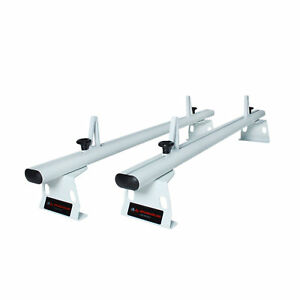 Aluminum Cargo Van Top Roof Racks 2 Cross Bar 72 Full Size Ladder Rack White