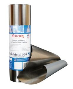 York Resys304ss12 20 Yorkshield Flashing Roll Stainless Steel Silver 240 L