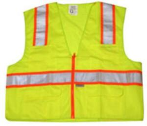 Imperial 88047 Class 2 Lime Safety Vest Xl Large Green