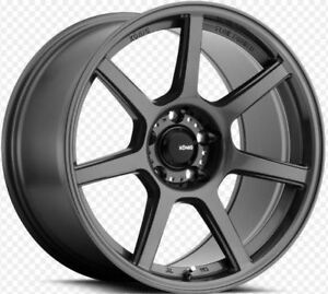 19x9 Konig Ultraform 5x120 35 Graphite Rims set Of 4