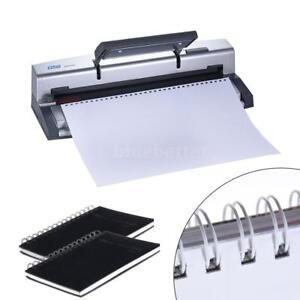 A4 34 32 Holes Paper Puncher Comb Manual Punch Binder Wire Binding Machine D9e5