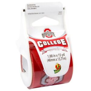 Duck Brand College Printed Packaging Tape With Dispenser Ohio State 1 88 inch