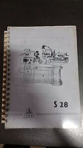Tos s28 Lathe Operating Manual Instructions Book