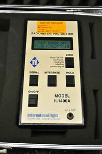 International Light Photometer radiometer Model Il 1400a W sel033