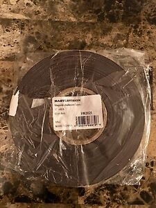 Mastervision Magnetic Adhesive Tape Roll 1 Inch X 50 Feet Black fm2021