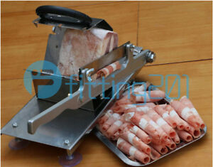 1pcs Manual Stainless Steel Frozen Meat Slicer Beef Slicing Machine Portable New