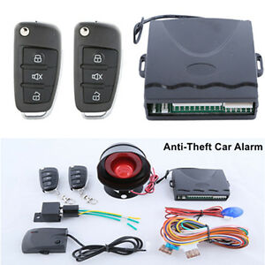 1xanti thelf Car Alarm System Key Remote Control Central Door Lock Keyless Entry