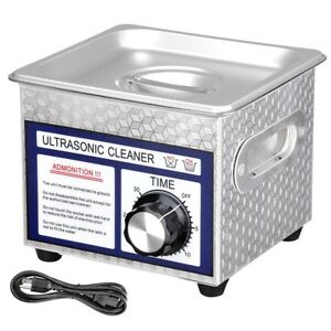 1 3l 1 3 Gallon 60 Ultrasonic Cleaner W Timer Jewelry Glasses Tattoo Dental