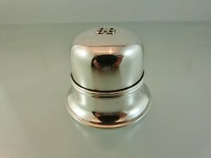 Plain Domed Regency Silver Plate Ring Box Hinged Lid By Birk S