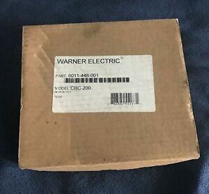 Warner Cbc 200 Clutch Brake Current Control Controller Motor 6011 448 001 New