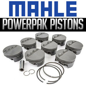 Mahle Pistons Sbc Small Chevy Flat Top 427ci 4 185 bore 3 875 stroke 6 000 rod