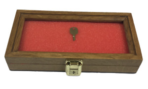 Oak Wood Display Case 5 X 10 X 2 For Arrowheads Knifes Collectibles More