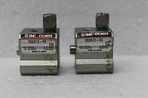 Lot Of 2 Smc Cylinder Cq2a12 5s Compact Spring Return Piston