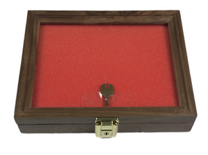 Walnut Wood Display Case 7 1 2 X 9 1 2 X 2 For Arrowheads Knifes Collectibles