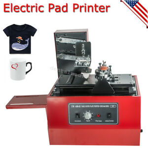 Electric Pad Printer Printing Machine T shirt Bottle Cup Inkprint Logos Coding