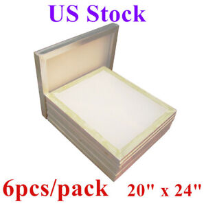Usa 20 X 24 Aluminum Frame Silk Screen Printing Screens With 160 Mesh 6pcs