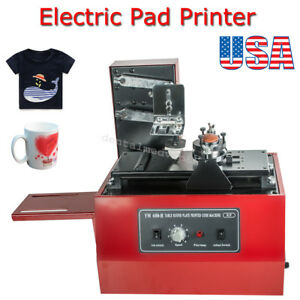 Electric Pad Printer Printing Machine T shirt Inkprint Pvc Mug Ballpen 15 X 30mm