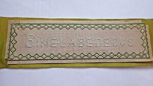 Perforated Paper Embroidery Silk Ribbon Bookmark Sine Labe Decus Devenport Uk