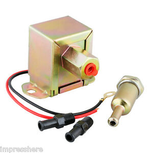 12v Low Pressure Universal Electric Fuel Pump With Metal Fuel Filter