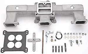 Offenhauser 5416 Quad Carb Intake Manifold Kit 1962 up Chevy 194 230 250 292