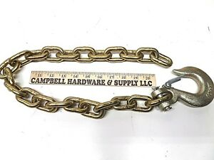Auto Body Frame Machine Pull Chain 3 8 X 2 Grade 70 With 3 8 Clevis Slip Hook