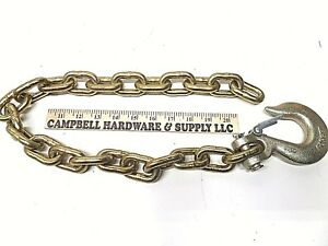 Auto Body Frame Machine Pull Chain 3 8 X 3 Grade 70 With 3 8 Clevis Slip Hook