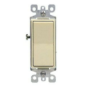 Leviton S11 05611 2is 15 Amp Almond Color Illuminated Light Switch