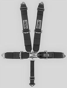 Crow Safety 3 X 3 Harness 5 Point Clip In Blk Competition From Radke 11044