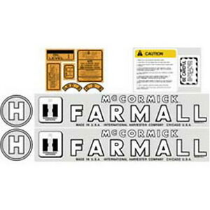 New H International Harvester Farmall Tractor Decal Kit High Quality
