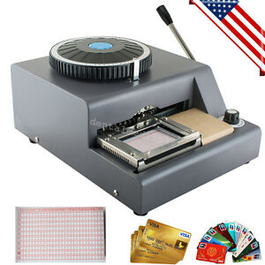 72 Character Letter Manual Stamping Pvc Card Embosser Id Vip Embossing Machine