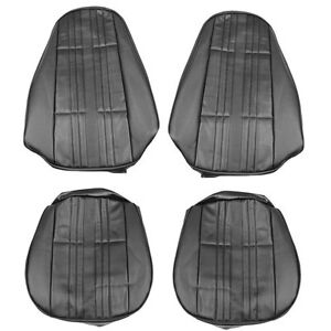 1972 Nova Nova Ss Custom Front Bucket Seat Covers Black Pui 72xs10u