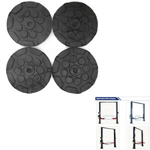4pcs Heavy Duty Round Rubber Car Post Lift Arm Pads Disk Workshop Accessories