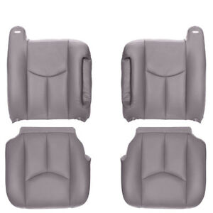2003 2006 Chevy gmc Truck Suv Full Front Row Factory Match Leather Kit Gray