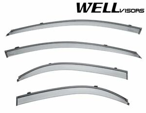 Wellvisors Side Window Visors W Black Trim For 04 09 Kia Spectra Sedan Clip on