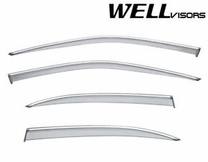 Wellvisors Side Window Visors Chrome Trim For 1995 1999 Nissan Maxima Sedan